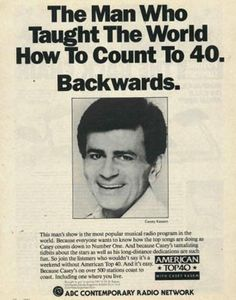 Vintage Promo Ad For American Top 40 Radio