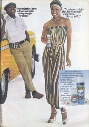 Vintage. Promo Ad For Secret Deodorant
