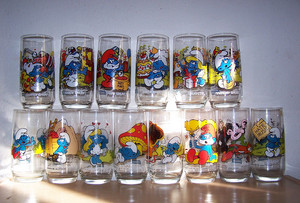 Vintage Smurf Drinking Glasses