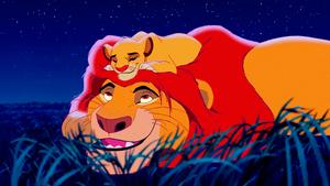 Walt ডিজনি Screencaps – Mufasa & Simba