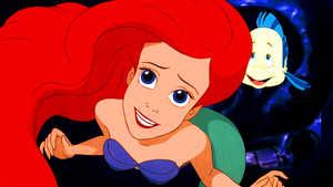 Walt Disney Screencaps – Princess Ariel & patauger, plie grise