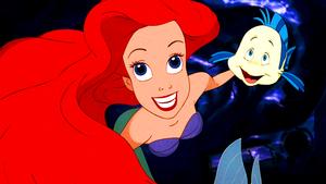 Walt disney Screencaps – Princess Ariel & linguado, solha