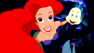 Walt Disney Screencaps – Princess Ariel & cá bơn, bồ câu