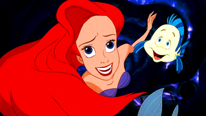 Walt Disney Screencaps – Princess Ariel & Flounder