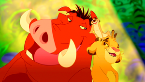 Walt 迪士尼 Screencaps – Pumbaa, Timon & Simba