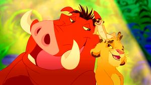 Walt 디즈니 Screencaps – Pumbaa, Timon & Simba