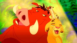 Walt 迪士尼 Screencaps – Pumbaa, Timon & Simba