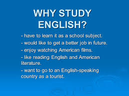 Why Study English