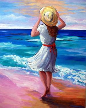 Windy siku At The beach, pwani