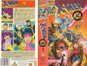 X-Men: The Animated Series VHS cover and back