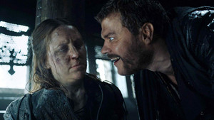 Yara and Euron Greyjoy in 'Winterfell'