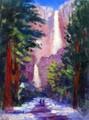Yosemite Falls In The Snow