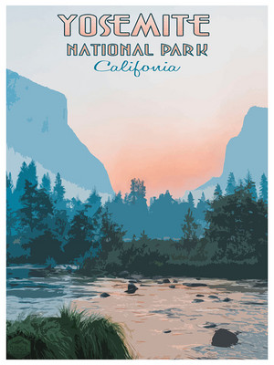 Yosemite National National Park Poster