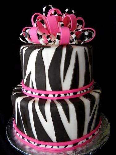 Beautiful Things 壁纸 called 斑马 Inspired Birthday Cake