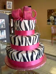 Zebra Inspired Birthday Cake