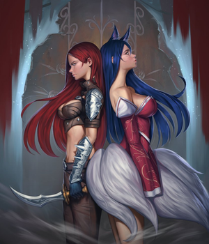 ahri and ahri back to back