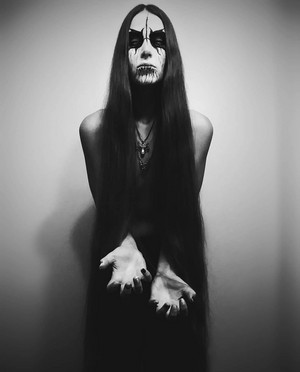 black metal lady
