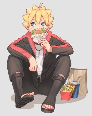 boruto and hamburger
