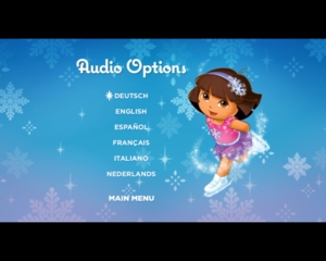 dora ice skating audio options
