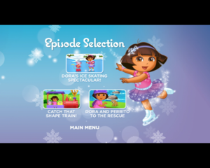 dora ice skating episode selection