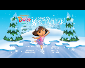 dora ice skating screen