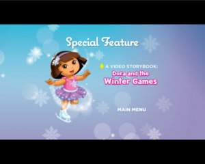 dora ice skating special feature
