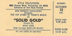A Vintage Ticket Stub Solid oro Taping