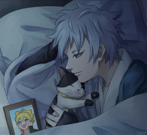 mitsuki and cat