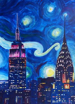 Starry Night Over New York City