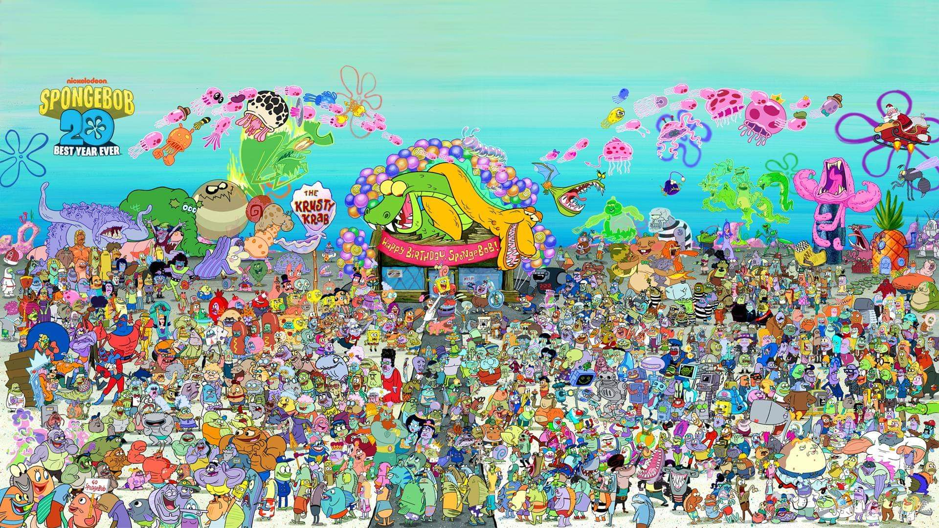 'Spongebob Squarepants' 20th Anniversary Poster