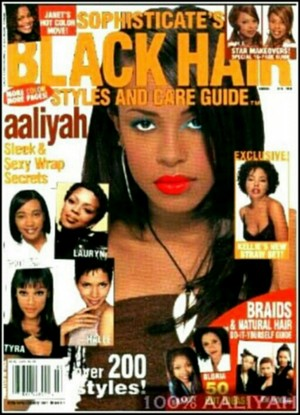 Aaliyah On The Cover Of Black Hair