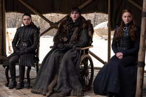 8x06 - The Iron 왕좌, 왕위 - Arya, Bran and Sansa
