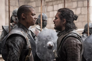 8x06 - The Iron 王位 - Grey Worm and Jon