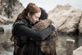 8x06 - The Iron Throne - Sansa and Jon - game-of-thrones photo