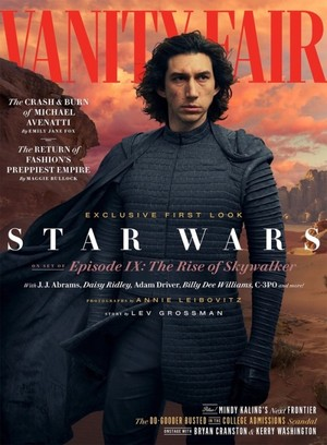 Adam Driver and marguerite, daisy Ridley for Vanity Fair May 2019 issue