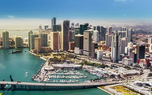 Aerial View Of Miami