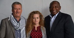 Ahed Tamimi and her father and Cyril Ramaphosa