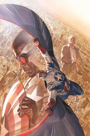 All-New Captain America no. 1 (Cover art によって Alex Ross)