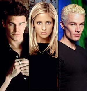 Angel Buffy Spike upendo pembetatu