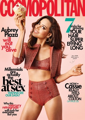 Aubrey Plaza - Cosmopolitan Cover - 2019