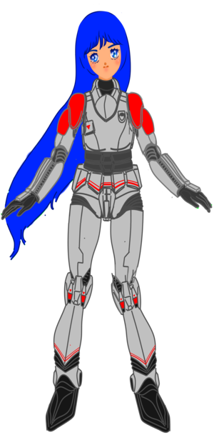 Aurora Sterling weared TASC pressure suit (