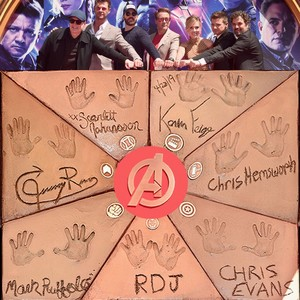 Avengers OG 6 handprints from handprint ceremony