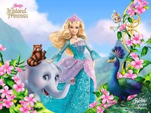 바비 인형 as the island princess