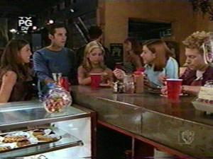 Buffy  Xander  Willow  Oz  and Cordelia