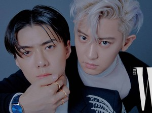 CHANYEOL and SEHUN for W Korea Magazine '19