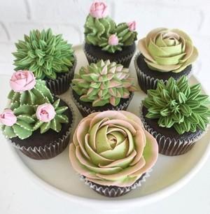 Cactus कपकेक