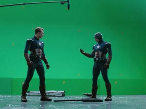Captains on the set of Avengers: Endgame -BTS