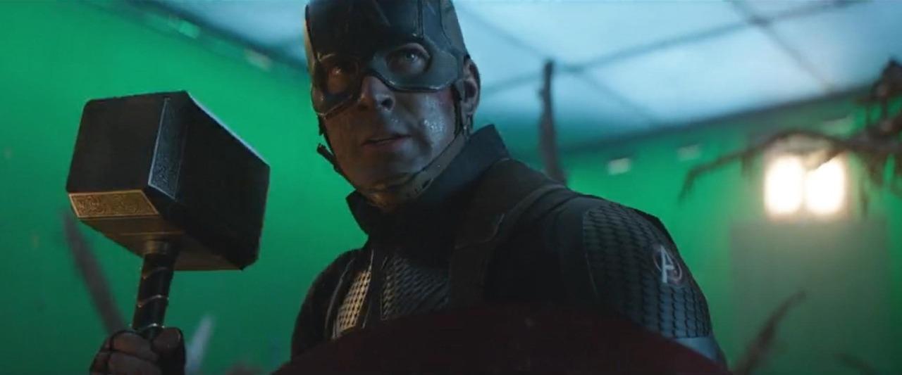 Captains on the set of Avengers: Endgame -BTS