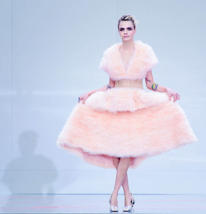 "Cara Delevingne ""karl For Ever"" at Le Grand Palais"