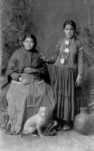 Chiricahua Apache Chief Bonito's Daughter and Sister - Randall -1886